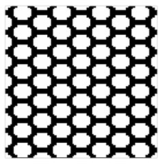 Tile Pattern Black White Large Satin Scarf (square) by Alisyart