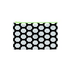 Tile Pattern Black White Cosmetic Bag (xs)
