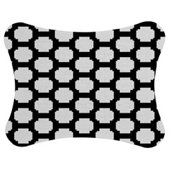 Tile Pattern Black White Jigsaw Puzzle Photo Stand (bow) by Alisyart