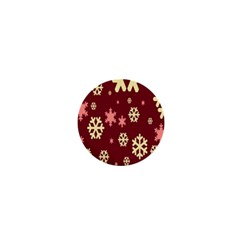 Snowflake Winter Illustration Colour 1  Mini Buttons