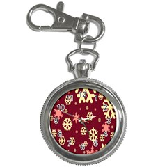 Snowflake Winter Illustration Colour Key Chain Watches by Alisyart