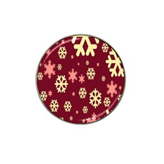 Snowflake Winter Illustration Colour Hat Clip Ball Marker (10 Pack) by Alisyart