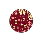 Snowflake Winter Illustration Colour Hat Clip Ball Marker (10 pack) Front