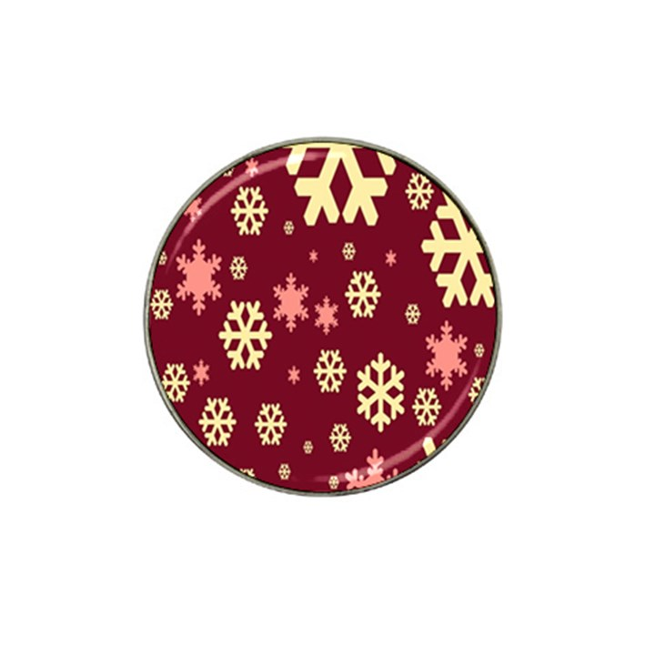 Snowflake Winter Illustration Colour Hat Clip Ball Marker (10 pack)