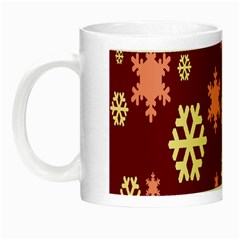 Snowflake Winter Illustration Colour Night Luminous Mugs by Alisyart