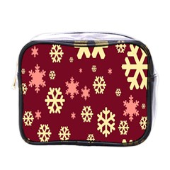 Snowflake Winter Illustration Colour Mini Toiletries Bags by Alisyart