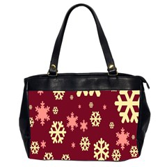 Snowflake Winter Illustration Colour Office Handbags (2 Sides)