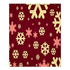 Snowflake Winter Illustration Colour Shower Curtain 60  X 72  (medium)  by Alisyart