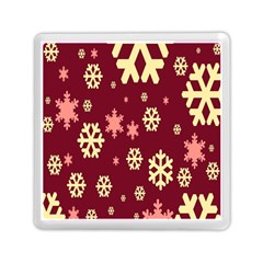 Snowflake Winter Illustration Colour Memory Card Reader (square)