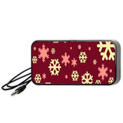 Snowflake Winter Illustration Colour Portable Speaker