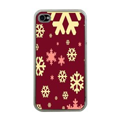 Snowflake Winter Illustration Colour Apple Iphone 4 Case (clear)