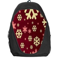 Snowflake Winter Illustration Colour Backpack Bag