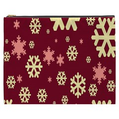 Snowflake Winter Illustration Colour Cosmetic Bag (xxxl)