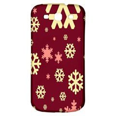 Snowflake Winter Illustration Colour Samsung Galaxy S3 S Iii Classic Hardshell Back Case by Alisyart