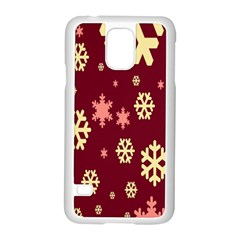 Snowflake Winter Illustration Colour Samsung Galaxy S5 Case (white) by Alisyart