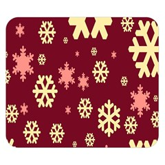 Snowflake Winter Illustration Colour Double Sided Flano Blanket (small)