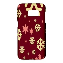 Snowflake Winter Illustration Colour Samsung Galaxy S7 Hardshell Case  by Alisyart