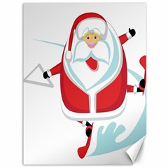 Surfing Snow Christmas Santa Claus Canvas 36  X 48   by Alisyart