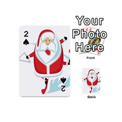 Surfing Snow Christmas Santa Claus Playing Cards 54 (mini)