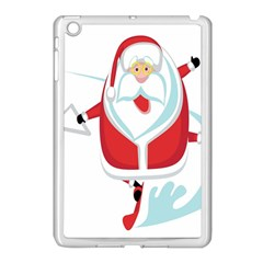 Surfing Snow Christmas Santa Claus Apple Ipad Mini Case (white)