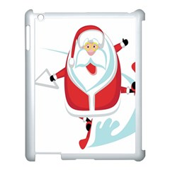 Surfing Snow Christmas Santa Claus Apple Ipad 3/4 Case (white)
