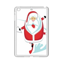 Surfing Snow Christmas Santa Claus Ipad Mini 2 Enamel Coated Cases