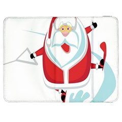 Surfing Snow Christmas Santa Claus Samsung Galaxy Tab 7  P1000 Flip Case