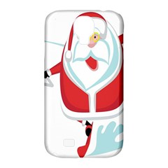 Surfing Snow Christmas Santa Claus Samsung Galaxy S4 Classic Hardshell Case (pc+silicone)