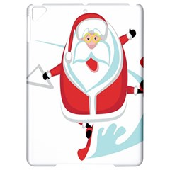Surfing Snow Christmas Santa Claus Apple Ipad Pro 9 7   Hardshell Case