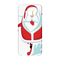 Surfing Snow Christmas Santa Claus Samsung Galaxy S8 Hardshell Case  by Alisyart