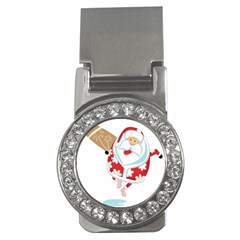 Surfing Christmas Santa Claus Money Clips (cz)  by Alisyart