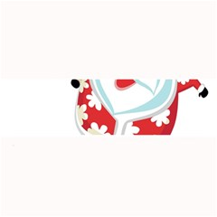 Surfing Christmas Santa Claus Large Bar Mats