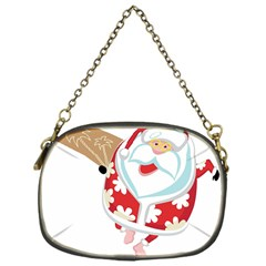 Surfing Christmas Santa Claus Chain Purses (one Side)  by Alisyart
