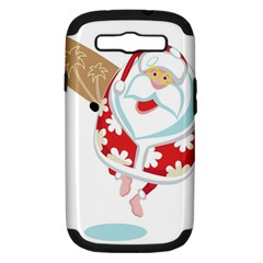 Surfing Christmas Santa Claus Samsung Galaxy S Iii Hardshell Case (pc+silicone) by Alisyart