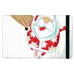 Surfing Christmas Santa Claus Apple Ipad 3/4 Flip Case by Alisyart