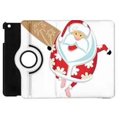Surfing Christmas Santa Claus Apple Ipad Mini Flip 360 Case by Alisyart