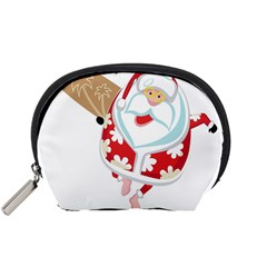 Surfing Christmas Santa Claus Accessory Pouches (small)