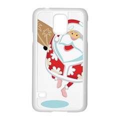 Surfing Christmas Santa Claus Samsung Galaxy S5 Case (white)