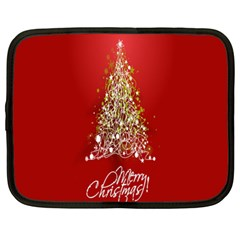 Tree Merry Christmas Red Star Netbook Case (xl)