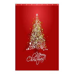Tree Merry Christmas Red Star Shower Curtain 48  X 72  (small)