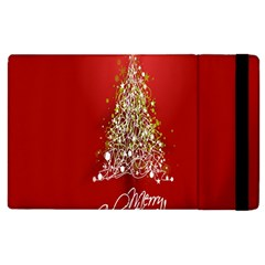Tree Merry Christmas Red Star Apple Ipad 3/4 Flip Case by Alisyart