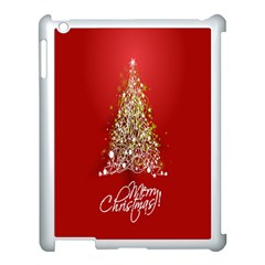 Tree Merry Christmas Red Star Apple Ipad 3/4 Case (white)