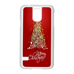 Tree Merry Christmas Red Star Samsung Galaxy S5 Case (white)
