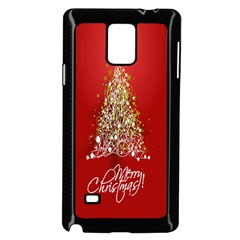 Tree Merry Christmas Red Star Samsung Galaxy Note 4 Case (black) by Alisyart