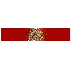 Tree Merry Christmas Red Star Large Flano Scarf