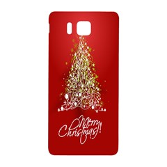 Tree Merry Christmas Red Star Samsung Galaxy Alpha Hardshell Back Case