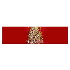 Tree Merry Christmas Red Star Satin Scarf (oblong)