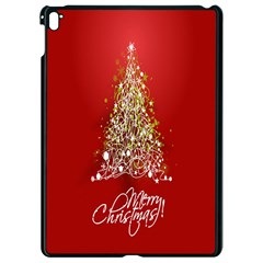 Tree Merry Christmas Red Star Apple Ipad Pro 9 7   Black Seamless Case