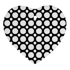 Tileable Circle Pattern Polka Dots Ornament (heart) by Alisyart
