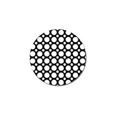 Tileable Circle Pattern Polka Dots Golf Ball Marker (4 Pack) by Alisyart